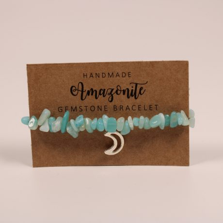 Amazonite Moon Gemstone Bracelet