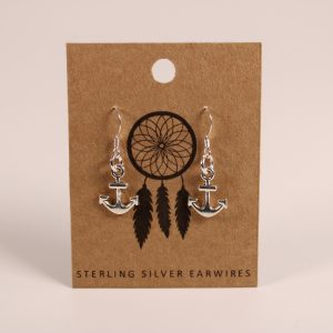 Anchor Earrings (Sterling Silver)