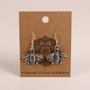 Bee Earrings (Sterling Silver)