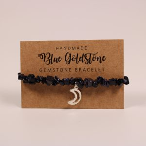 Blue Goldstone Moon Gemstone Bracelet