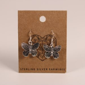 Butterfly Earrings (Sterling Silver)
