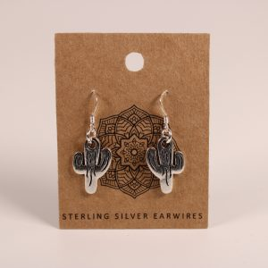 Cactus Earrings (Sterling Silver)