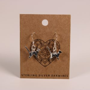 Cat Standing Earrings (Sterling Silver)