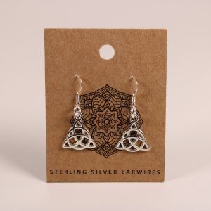 Celtic Knot Earrings (Sterling Silver)