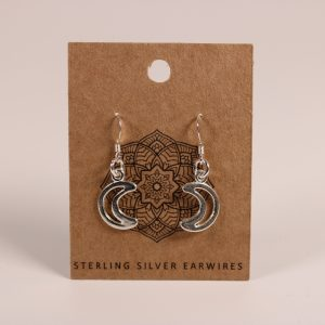 Crescent Moon Earrings (Sterling Silver)