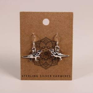 Dinosaur Earrings (Sterling Silver)