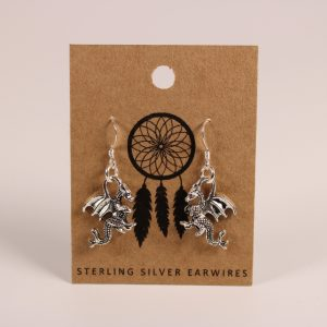 Dragon Earrings (Sterling Silver)