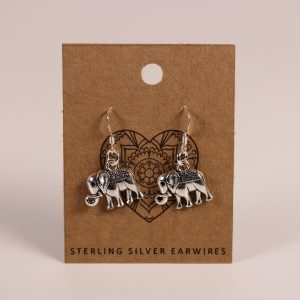 Elephant Earrings (Sterling Silver)