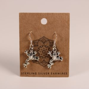 Frog Earrings (Sterling Silver)