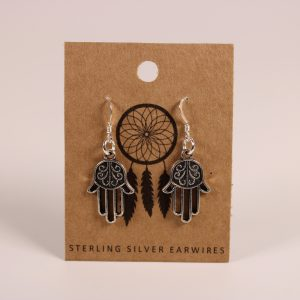 Hamsa Earrings (Sterling Silver)