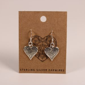 Heart Earrings (Sterling Silver)