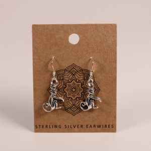 Monkey Earrings (Sterling Silver)