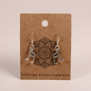 Music Note Earrings (Sterling Silver)