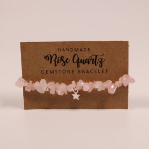 Rose Quartz Star Gemstone Bracelet