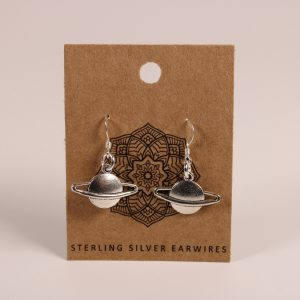 Saturn Earrings (Sterling Silver)