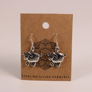 Sheep Earrings (Sterling Silver)