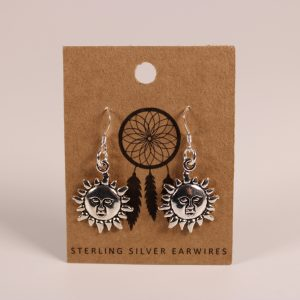 Sun Earrings (Sterling Silver)