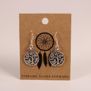 Tree of Life Earrings (Sterling Silver)