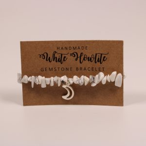 White Howlite Moon Gemstone Bracelet