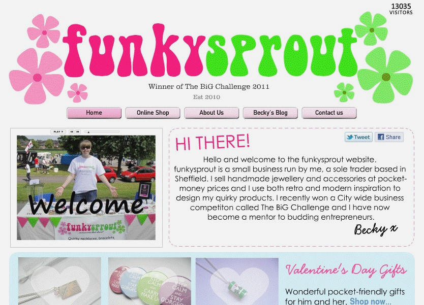 Funky Sprout Website 2012