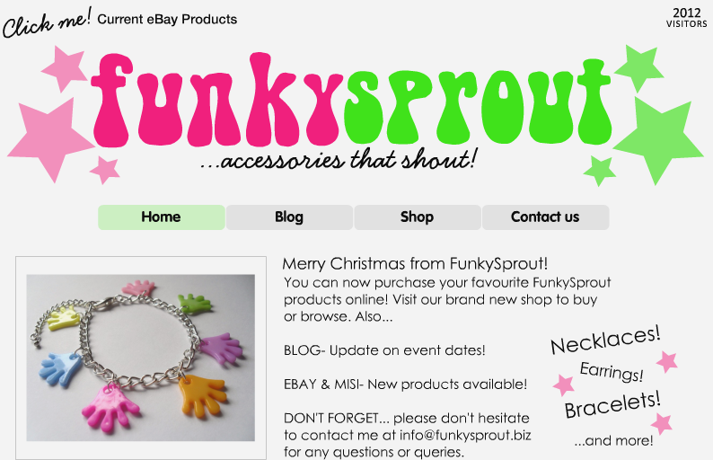 Funky Sprout Website October 2010