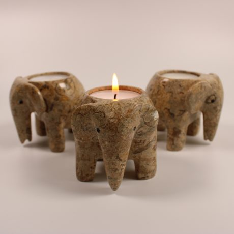 Coral Elephant Tea Light Holders