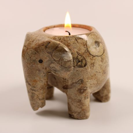 Coral Elephant Tea Light Holder