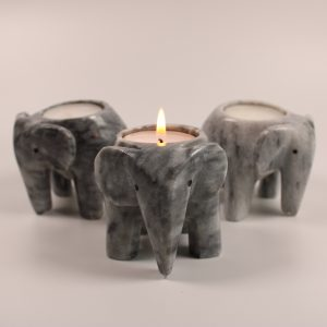 Grey Elephant Tea Light Holders