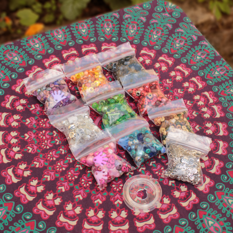 Beads, Charms and Elastic